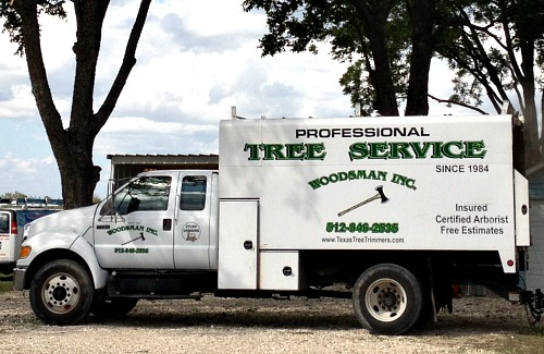 The Woodsman Tree Care Service Truck